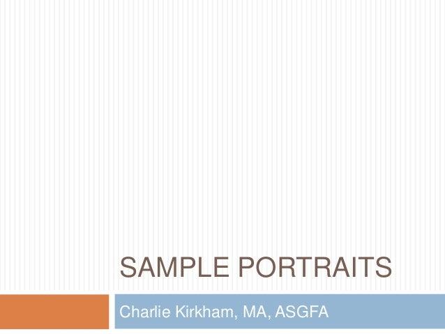 Sample Portraits