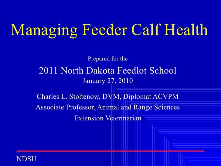 Managing Feeder Calf Health