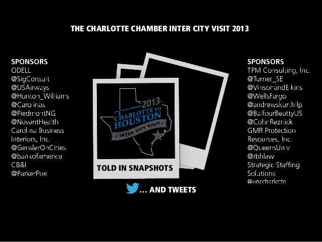 Charlotte Chamber Inter City Visit 2013 - Recap