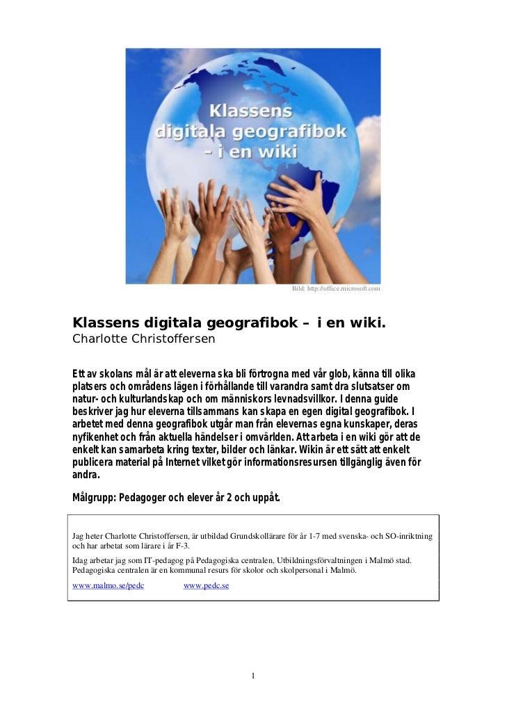 Charlotte Christoffersen – Wikin - Klassens digitala geografibok