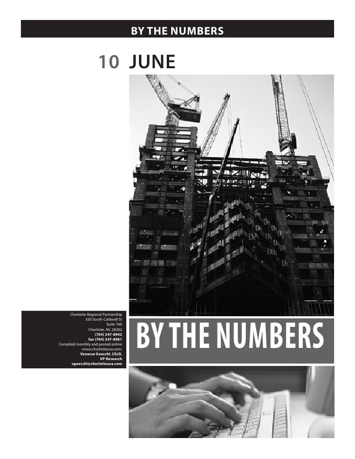 BY THE NUMBERS                        10 JUNE                                            BY THE NUMBERS      Charlotte Reg...