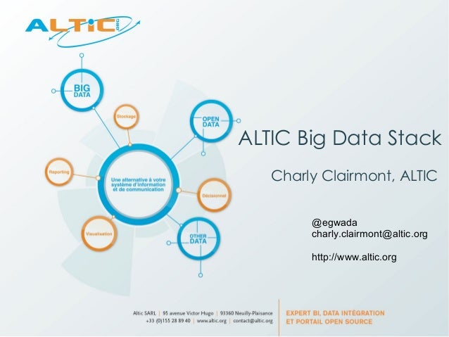 ALTIC Big Data Stack Charly Clairmont, ALTIC @egwada charly.clairmont@altic.org http://www.altic.org