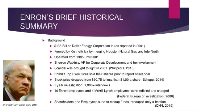 Enron scandal essay