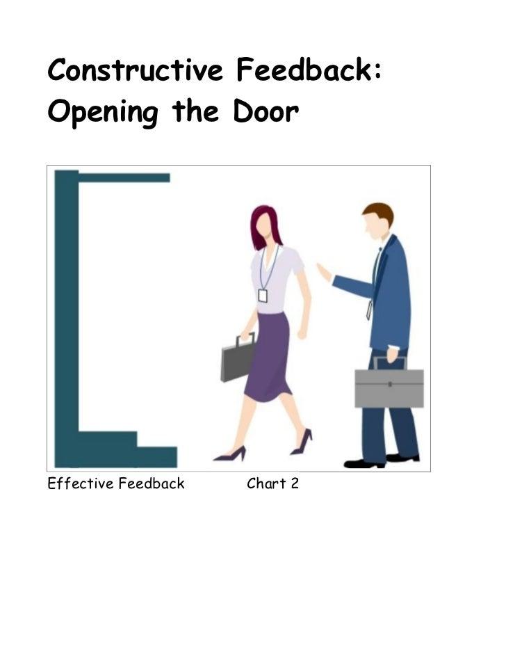 Constructive Feedback:Opening the DoorEffective Feedback   Chart 2
