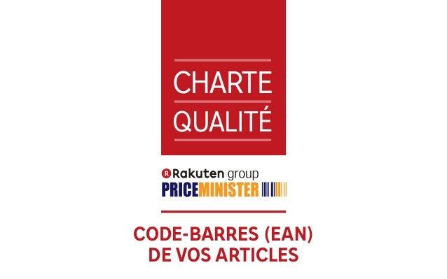 1 CHARTE QUALITÉ CODE-BARRES (EAN) DE VOS ARTICLES