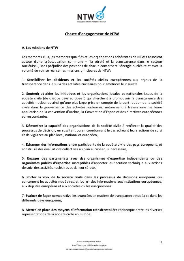 Nuclear Transparency Watch Rue d'Edimbourg, 1050 Bruxelles, Belgique contact: ma.verhoeven@nuclear-transparency-watch.eu 1...
