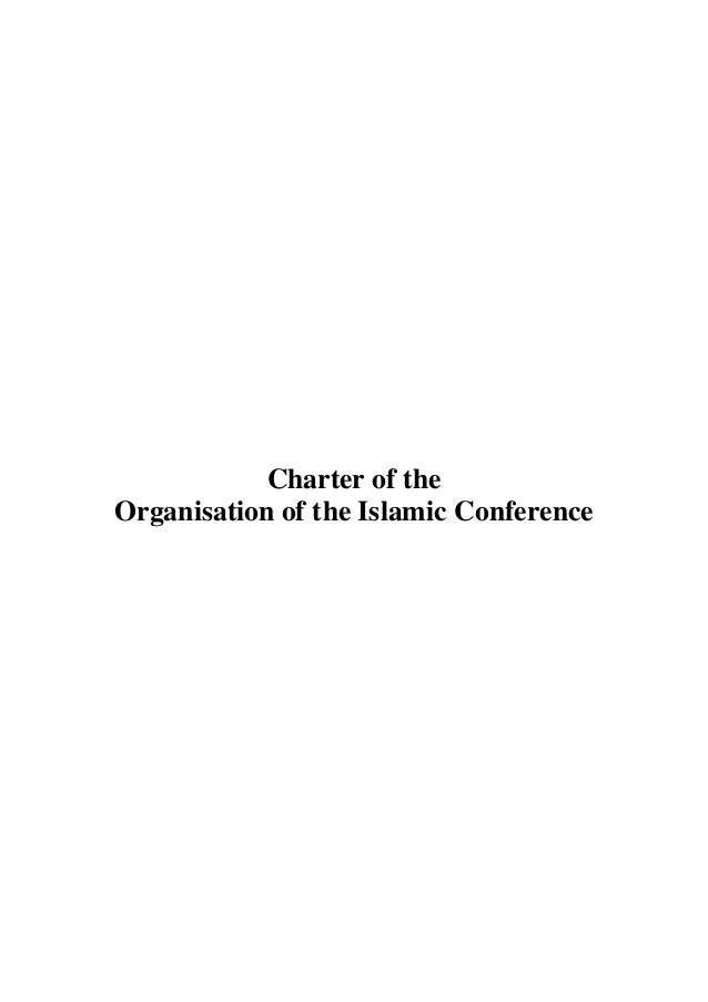 Charter of the Organisation of the Islamic Conference