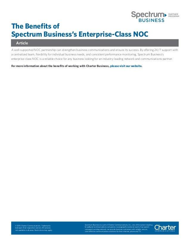 the benefits of spectrum