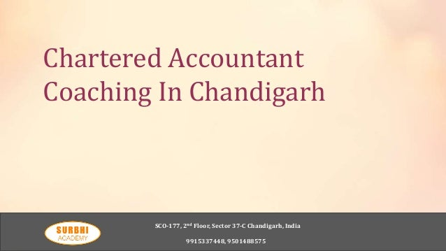 Chartered accountant coaching in chandigarh