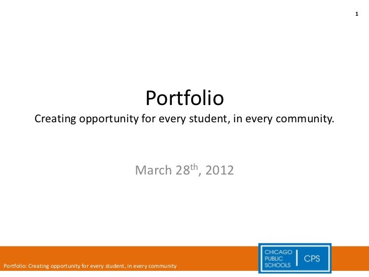 1                                                        Portfolio            Creating opportunity for every student, in e...