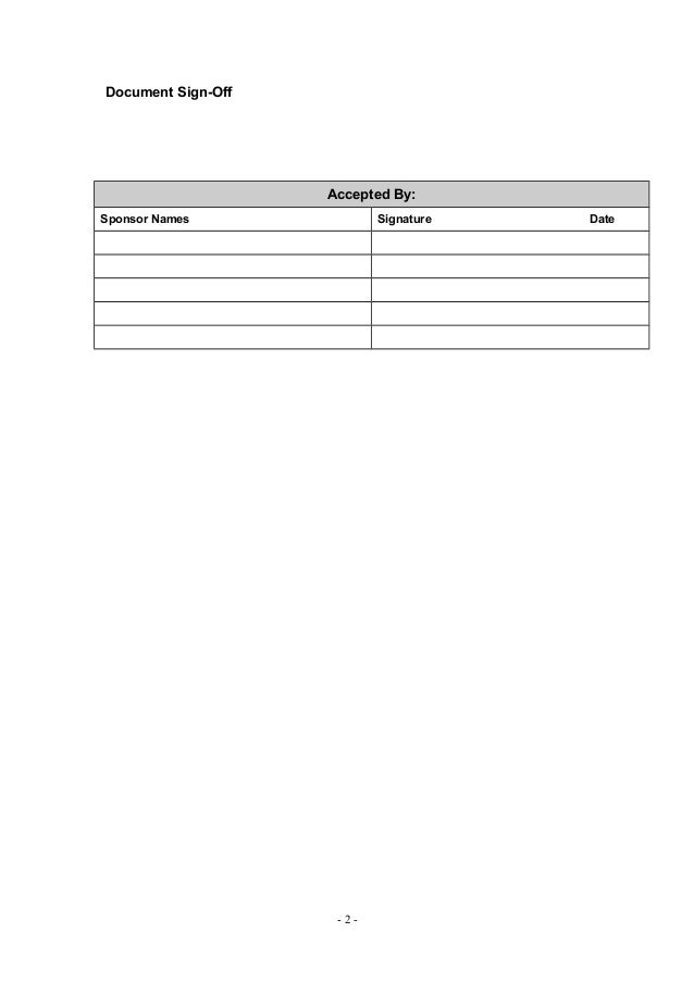 sign off form template