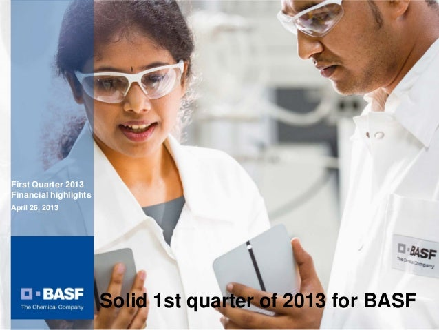 Charts BASF Analyst Conference Q1 2013