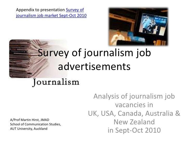 Survey of journalism job advertisements<br />Appendix to presentation Survey of journalism job market Sept-Oct 2010 <br />...