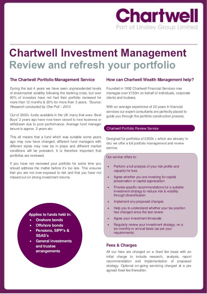 Chartwell Investment ManagementReview and refresh your portfolioThe Chartwell Portfolio Management Service                ...