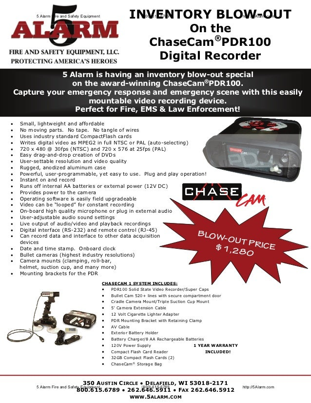 Chase Cam Inventory Blow Out Flyer