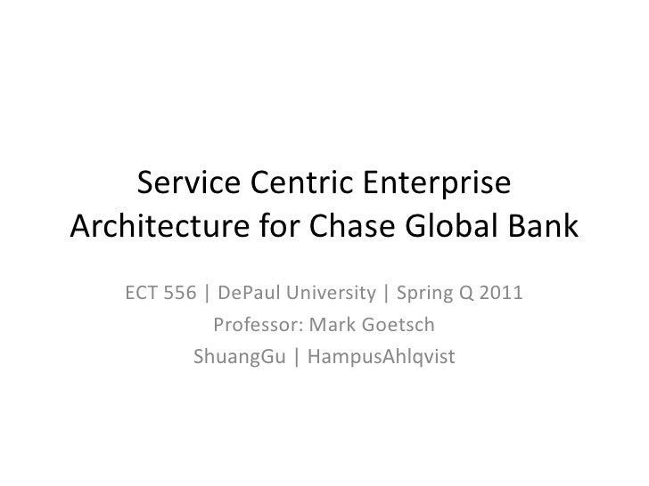 Enterprise Architecture Framework: Chase Global Bank