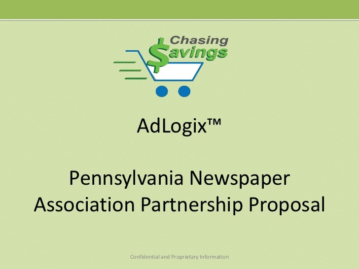 AdLogix™Pennsylvania Newspaper Association Partnership Proposal<br />Confidential and Proprietary Information<br />