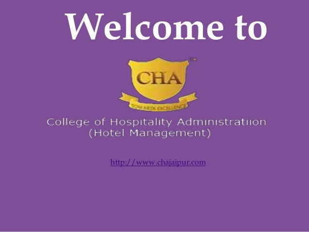 College of Hospitality Administration.