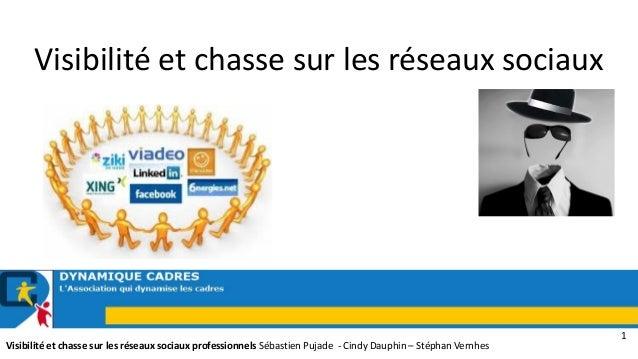 Visibilité et chasse sur les réseaux sociaux  Visibilité et chasse sur les réseaux sociaux professionnels Sébastien Pujade...