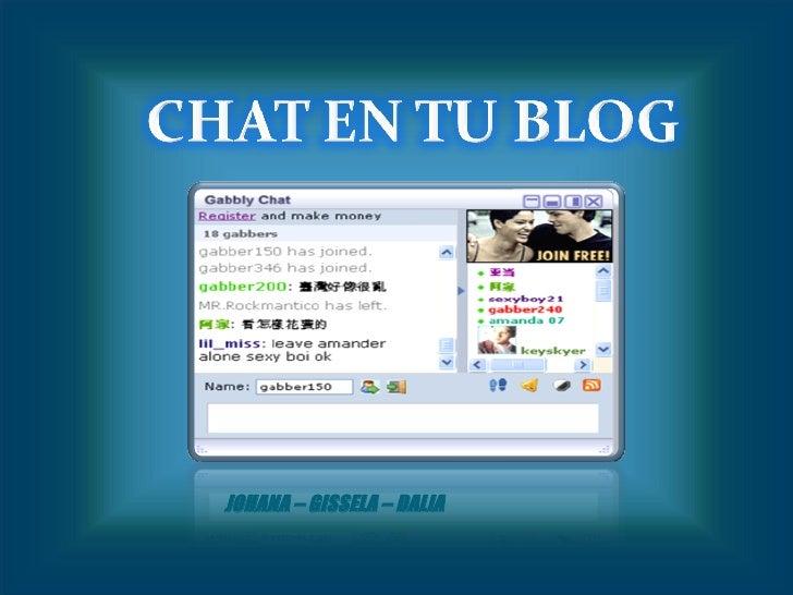 chat en tu blog