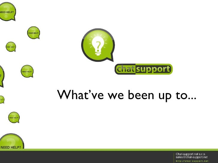 StartupCamp.sk 21 - Chat Support