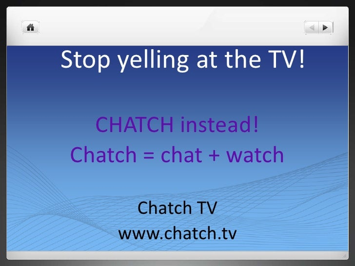 Chatch tv promo - Television c discount ...