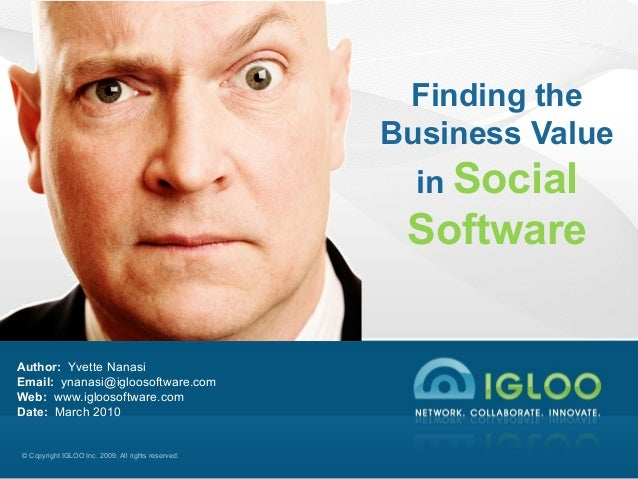 Finding the Business Value in Social Software and Social Media