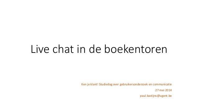 Live chat in de boekentoren (Paul Bastijns)