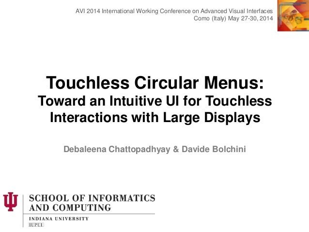Touchless Circular Menus