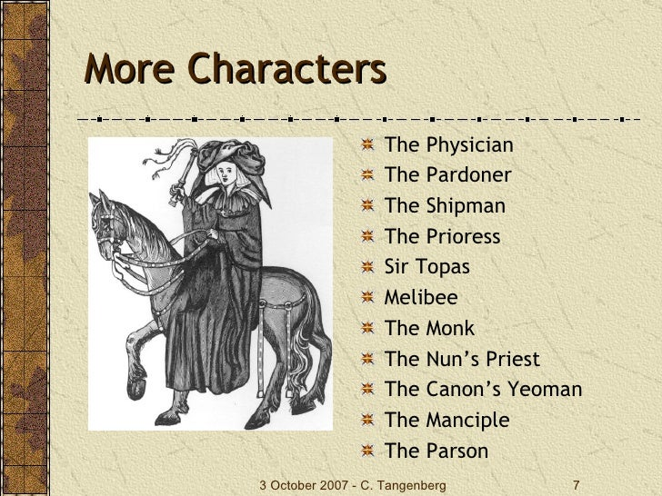 an analysis of the characters of the knight and the squire in the prologue to the canterbury tales b The knight begins not with the main characters of the the canterbury tales the knight's tale summary summary and analysis general prologue the knight's.