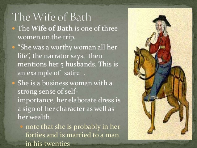 wife of baths prologue and tale essay Wife of baths tale in response, the similar issues this vivid sketch is one of the most striking in the general prologue we learn of the wife's physical appearance, her dress, her way of life and her character, while chaucer introduces hints he intends to amplify later in the narrative.