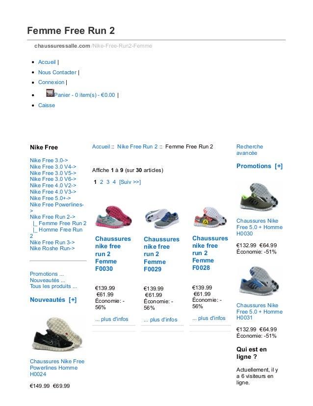 Femme Free Run 2 chaussuressalle.com /Nike-Free-Run2-Femme Accueil   Nous Contacter   Connexion   Panier - 0 item(s) - €0....