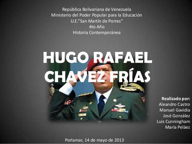 """República Bolivariana de VenezuelaMinisterio del Poder Popular para la EducaciónU.E.""""San Martín de Porres""""4to AñoHistoria ..."""
