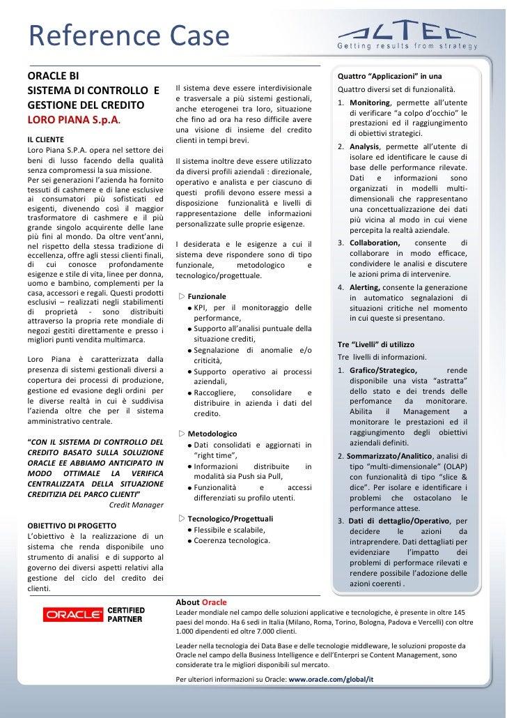 Reference Case ORACLE BI                                                                                           Quattro...