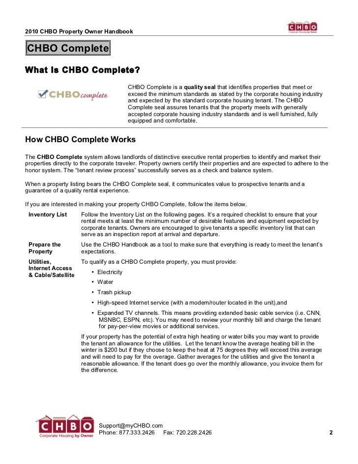 2010 CHBO Property Owner HandbookCHBO CompleteWhat Is CHBO Complete?                                          CHBO Complet...