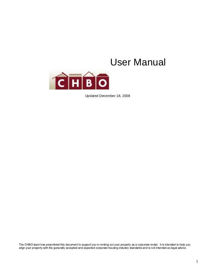 CHBO Handbook