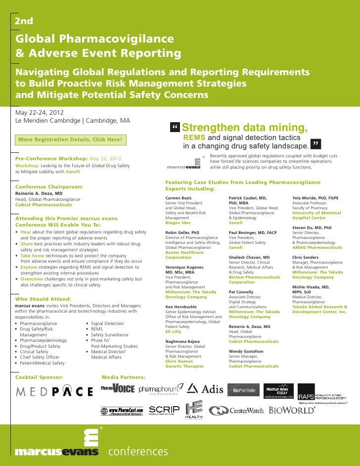 2ndGlobal Pharmacovigilance& Adverse Event ReportingNavigating Global Regulations and Reporting Requirementsto Build Proac...