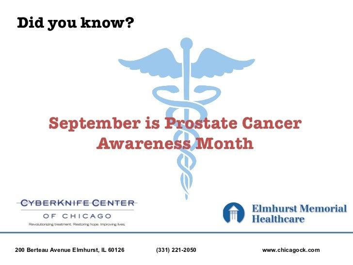 CyberKnife Center of Chicago: Prostate Cancer Awareness Month