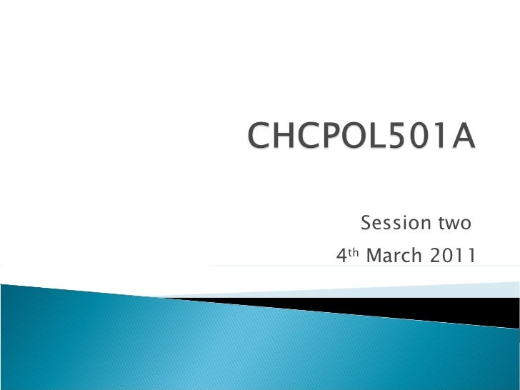 Session two  4 th  March 2011