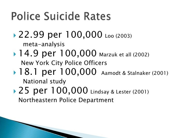 2017 Police Suicides—A Continuing Crisis