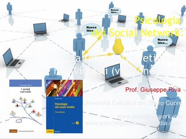 Psicologia                                                                          dei Social Network:                   ...