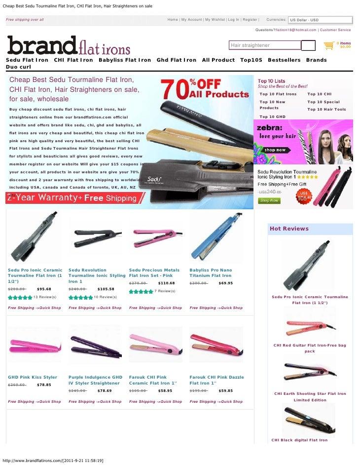 Cheap Best Sedu Tourmaline Flat Iron, CHI Flat Iron, Hair Straighteners on sale Free shipping over all                    ...