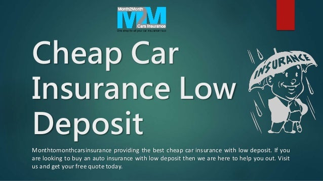 Awesome How To Get Cheap Low Deposit Car Insurance Quotes With
