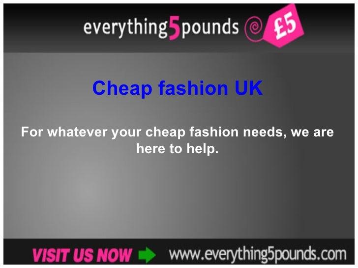 Cheap Fashion UK