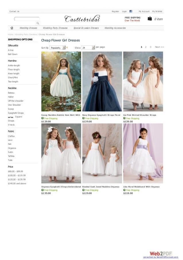 Cheap Flower Girl Dresses | Affordable Flower Girl Dresses