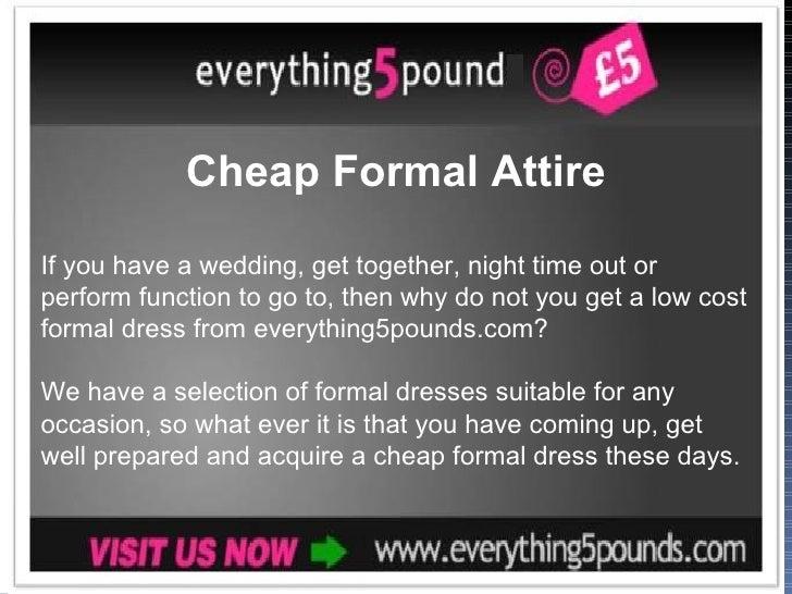 Cheap formal attire