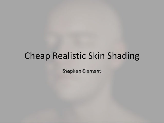 Cheap realisticskinshading kor
