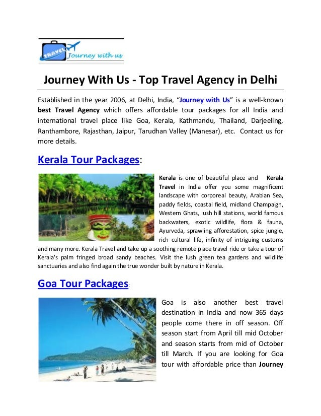 Journey With Us - Top Travel Agency in Delhi