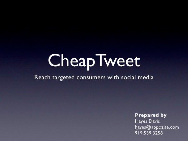 Cheap Tweet Sales Overview