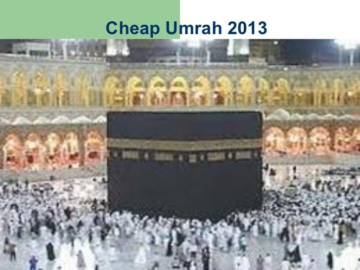 Cheap umrah 2013